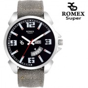 Romex Super Smile Day N Date Analog Dial Men Watch-Dd-222Grey