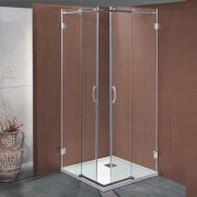 Box doccia scorrevole Bapu da 80x80 cm in cristallo 8 mm