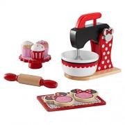 Skroutz Minnie Mouse Kids Girls Red Kitchen Wooden Baking & Treats Set Pretend Play Children Mixers Cookies - Skroutz