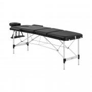 Cama de massagem Bordeux Black - portátil - em preto
