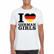 Bellatio Decorations I love German girls t-shirt wit heren