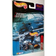 Deluxe Hot Wheels Nascar Racing Scorchin Scooter Series #44 Red Lobster (Dark Blue With Flames) Die Cast Motorcycle