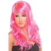Be Wicked Wigs Burlesque Pruik - Roze