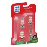 Set Figurine Soccerstarz England Euro 4 Player Blister Pack A
