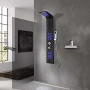 vidaXL fekete alumínium zuhanypanel 20 x 44 x 130 cm