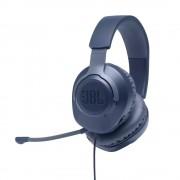HEADPHONES, JBL QUANTUM 100, Gaming, Microphone, Blue (JBLQUANTUM100BLU)