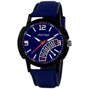 Mark Regal Round Blue Dail Blue Leather Strap Analog Watch For Mens