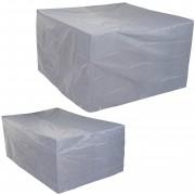 Abdeckplane Abdeckhaube Schutzplane Schutzhülle für Garnituren, grau ~ Variantenangebot