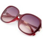 ERMINIO PALAMINO Over-sized Sunglasses(Red)