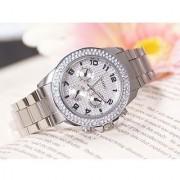 New BRAND PAIDU Stone Studded Gold Silver Theme Wrist Watch for Men