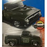 HOT WHEELS Hot Wheels Custom '56 Ford truck custom ford truck dark green # 215