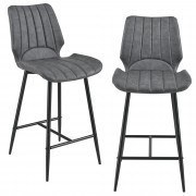 [en.casa] Barová stolička AACM-9035 - koženka