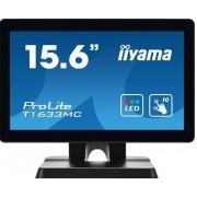 "IIYAMA ProLite T1633MC-B1 - LED-monitor - 15.6"" - aanraakscherm - 1366 x 768 - TN - 300 cd/m²"