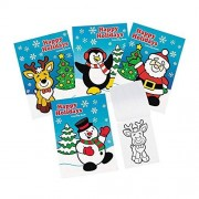 """Fun Express 72 ~ Happy Holidays Coloring Books ~ 5"""" X 7"""" ~ 6 Pages Each"""