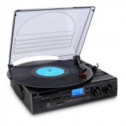Auna TT-186E Tocadiscos USB grabación LP a MP3