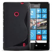 Силиконов гръб ТПУ S-Line за Nokia Lumia 520 Черен