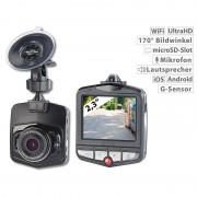 NavGear 4K-UHD-Dashcam mit G-Sensor, WLAN, Bewegungserkennung, 170°-Weitwinkel