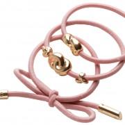 Corinne Hair Tie Metal Details Pink 3-Pack