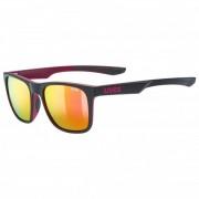 Uvex Lgl 42 Mirror S3 Occhiali da sole arancione/nero/grigio