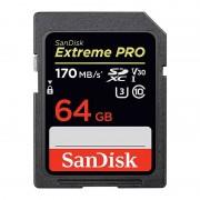 SanDisk SDXC Extreme Pro 64GB 170MB/s UHS-I V30 U3 C10