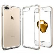 Spigen Neo Hybrid Case Crystal - хибриден кейс с висока степен на защита за iPhone 8 Plus, iPhone 7 Plus (прозрачен-златист)