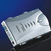 KVM SWITCH, ROLINE Pocket, aвтоматичен, 1x User - 4 PCs, аудио (14.99.3298)