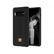 Etui Spigen La Manon Classy Samsung Galaxy S10 Black + Folia Neo Flex