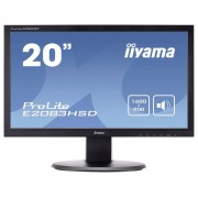 Iiyama E2083HSD LED-monitor 49.5 cm (19.5 inch) 1600 x 900 pix WSXGA 5 ms DVI, VGA, Hoofdtelefoon (3.5 mm jackplug) TN LED