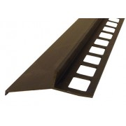 Profil aluminiowy balkonowy 44mm 2,5m - okapnik anodowany brąz 250cm