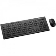 Клавиатура и Мишка CANYON Multimedia 2.4GHZ wireless combo-set, keyboard 105 keys, slim and brushed finish design, chocolate key caps. CNS-HSETW4-BG