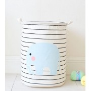 Container - Tas - Wasmand (35x45cm) - Speelgoed mand - Olifant - Streep