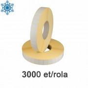 Role de etichete termice 28x15mm, pentru congelate, 3000 et./rola