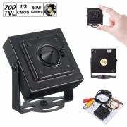 Mini Pinhole HD 700TVL 1/3' 3.7mm Wide Angle Board Lens CCTV Security PAL Camera