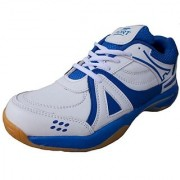 Port Activa White PU BadmintonShoes