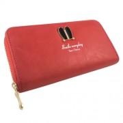 Piros műbőr női pénztárca