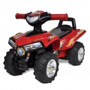 vidaXL Carro motorizado vermelho com música e luzes