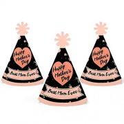 Big Dot Of Happiness Best Mom Ever - Mini Cone Mother'S Day Hats Small Little Party Set 10