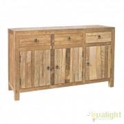 Comoda din lemn de tec design natural KENDAR 3DO-3DR