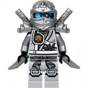 LEGO LEGO Ninjago Minifigure - Zane Titanium Ninja with Silver Katana Swords