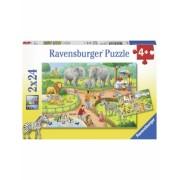 Puzzle Zi La Zoo, 2X24 Piese Ravensburger