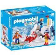 Комплект Плеймобил 9283 - Бой със снежни топки, Playmobil, 2900329