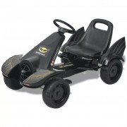 vidaXL Pedal Go Kart with Adjustable Seat Black