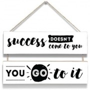 100yellow Success Your Day Wall Door Hanging Board Plaque Sign For Wall Dcor (7 X 12 Inch)