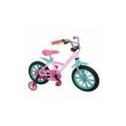 Bicicleta Infantil First Pro Aro Feminina 14 Alumínio - Nathor - Rosa/Verde