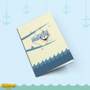 Meniu pentru botez din setul Nautica (Motive Marinăreşti)