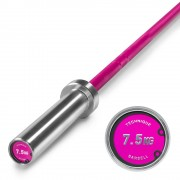 IRONSPORTS Technik Bar 7,5 kg - extra leichte Aluminium Hantel - Pink Oxid