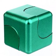 Cxcase Fidget Spinner Cube Helps Focusing Toys CNC Metallic Focus Toy for Kids & Adults - 4-in-1 Spinning Top, Z Emerald Green