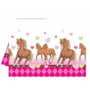 Lovas asztalterítő - pink