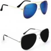 Sulit Aviator, Wayfarer, Cat-eye Sunglasses(Blue, Black)