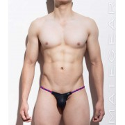 Mategear Kim Bae Braided Tapered Sides V Front Maximizer Ultra Bikini Swimwear Black 1061101